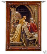 53x76 GODSPEED Knight Medieval Tapestry Wall Hanging - $289.95