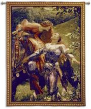 53x66 LA BELLE Knight Medieval Tapestry Wall Hanging - $259.95