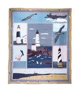 95x105 LIGHTHOUSE Patch Quilt Blanket Throw KIN... - $245.00