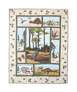 85x95 Patch Quilt DINOSAUR Prehistoric Throw Bl... - $220.00