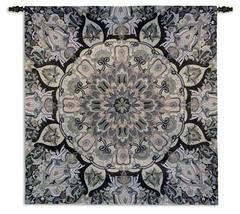 52x51 Rangoli Stone Fine Art Tapestry Wall Hanging - $179.95