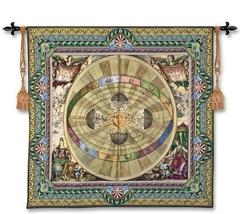 57x52 COPERNICAN SYSTEM Map Tapestry Wall Hanging - $179.95
