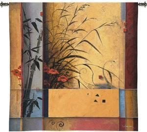 53x53 BAMBOO Floral Contemporary Tapestry Wall Hanging