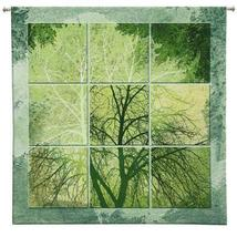 "53"" April Light Nature Tree Art Tapestry Wall Hanging - $179.95"