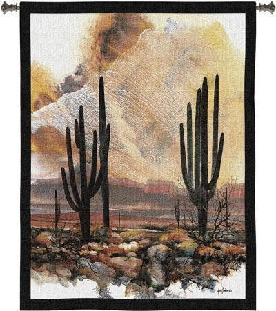 40x53 SENTINELS Cactus Southwest Desert Tapestry Wall Hanging