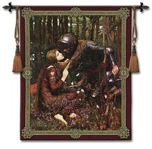 44x53 LA BELLE Knight & Lady Medieval Tapestry Wall Hanging - $169.95