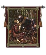 44x53 LA BELLE Knight & Lady Medieval Tapestry ... - $169.95