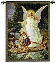 40x53 GUIDING ANGEL Religious Fine Art Tapestry Wall Hanging - $169.95