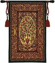 40x53 ABUNDANCE Apple Fruit Tree Botanical Urn Fine Art Tapestry Wall Hanging - $170.00