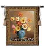 47x53 POPPIES Poppy Floral Flower Still Life Tapestry Wall Hanging - $169.95