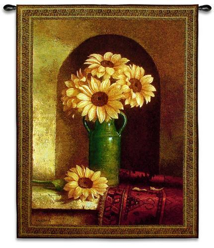 40x53 SUNFLOWERS Floral Flower Tapestry Wall Hanging