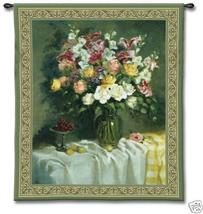 45x53 ROSES GRAPES Floral Flower Tapestry Wall Hanging - $159.95