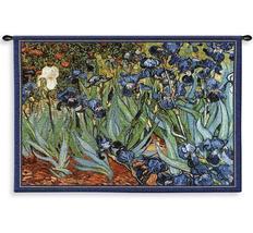 53x38 VAN GOGH IRISES Iris Floral Tapestry Wall Hanging - $160.00