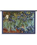 53x38 VAN GOGH IRISES Iris Floral Tapestry Wall... - $160.00