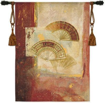 39x52 FAN Abstract Asian Fine Tapestry Wall Hanging