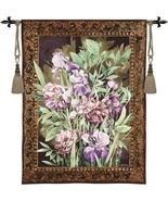 42x53 IRIS PEONY Floral Flower Tapestry Wall Hanging - $169.95
