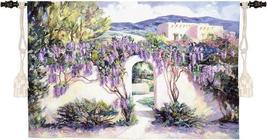 53x34 Wistful Wisteria Floral Tapestry Wall Hanging - $159.95