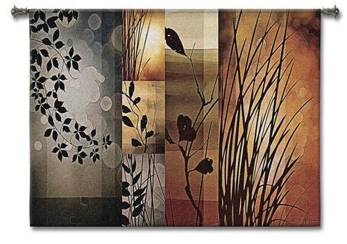 53x40 AUTUMNAL EQUINOX Botanical Abstract Tapestry Wall Hanging