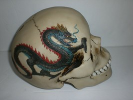 Studio Collection Veronese Design Gothic Dragon Tattooed Skull Head Pigg... - $23.74
