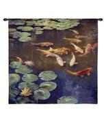 45x44 INCLINATIONS KOI Pond Fish Tapestry Wall Hanging - $139.95