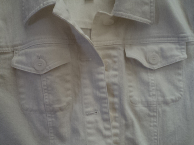 Talbots White Stretch Jacket Size Medium Like New