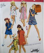 Vintage 70s Pattern Girls size 12 Pantdress  Dress S8721 - $6.95