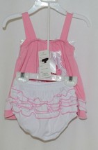 I Love Baby Pink White Sun Dress Ruffle Bloomers Size 80cm 1 to 2 Year Old image 2