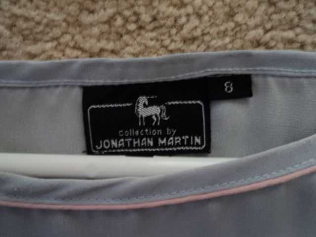 Woman's Jonathan Martin Gray and Pink Top Size 8 Small