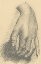 Malcolm Rogers - Mid 20th Century Graphite Drawing, Hand Study - $37.70
