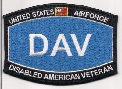 Primary image for United States Airforce DAV Disabled American Veteran Patch