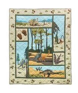 50x60 Patch Quilt DINOSAUR Prehistoric Throw Bl... - $115.00