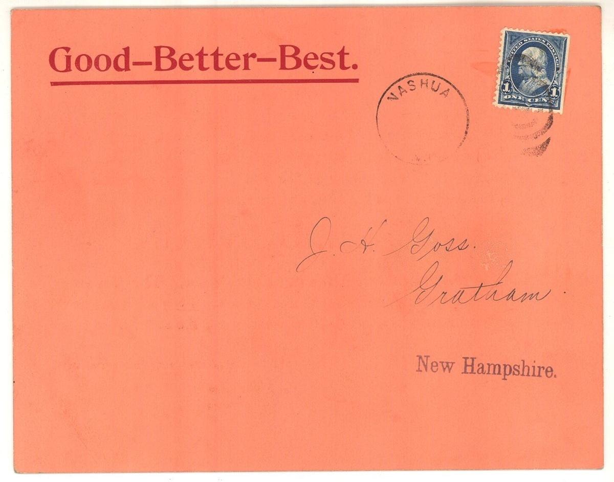 White Mountain Freezer 1890 advertising postcard Nashua NH antique