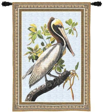 36x27 BROWN PELICAN Bird Tropical Tapestry Wall Hanging