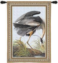27x36 BLUE HERON Wildlife Bird Tapestry Wall Hanging - $89.95