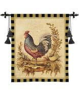 35x40 Morning ROOSTER Farm Bird Tapestry Wall H... - $109.95