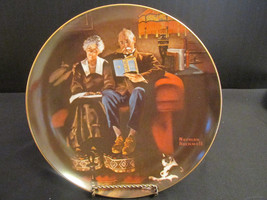 "Vintage 1983 Knowles ""Evening Ease"" Collector Plate by Norman Rockwell - $7.00"