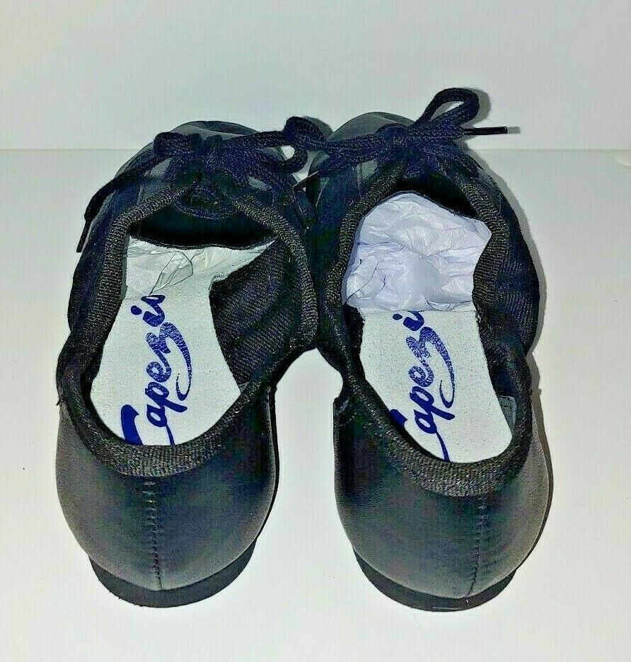 Capezio 358C Black Lace Split-Sole Jazz Shoe Child Size 1M 1 M  image 3