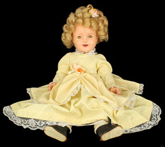 "VINTAGE 1930'S IDEAL SHIRLEY TEMPLE 18"" SLEEPY EYE COMPOSITION TOY DOLL - $409.49"