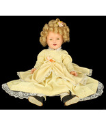 """VINTAGE 1930'S IDEAL SHIRLEY TEMPLE 18"""" SLEEPY EYE COMPOSITION TOY DOLL - $409.49"""