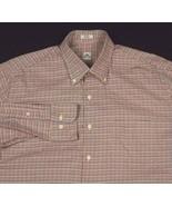 Peter Millar Multi Color Hounds tooth Plaid Dress Shirt Sz L Button Down - $27.99