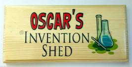 Personalised Invention Shed Sign, Bedroom Kids Children Garden Science G... - $12.46