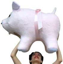 American Made Giant Stuffed Pink Pig 32 Inch Soft Made in USA America Br... - $147.21
