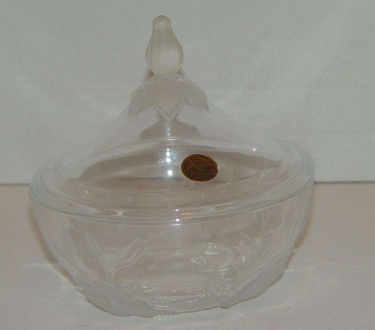 Cristal d Arques, Paris, France, 24% Lead Crystal Covered Bowl - $19.00