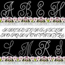 Monogram Cake Toppers Crystal Covered Silver Cake Letter Initial A-Z Any... - $13.66