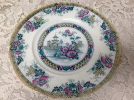 Antique, Yeddo, Royal Staffordshire Variant Gaudy Blue Willow 10in Dinne... - $42.70
