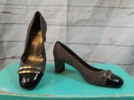 Stuart Weitzman Heels Women's 5.5 M Brown Leather Buckle Pumps Shoes - $31.47