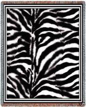 70x53 Framed ZEBRA Skin Print Throw Jacquard Blanket  - $60.00