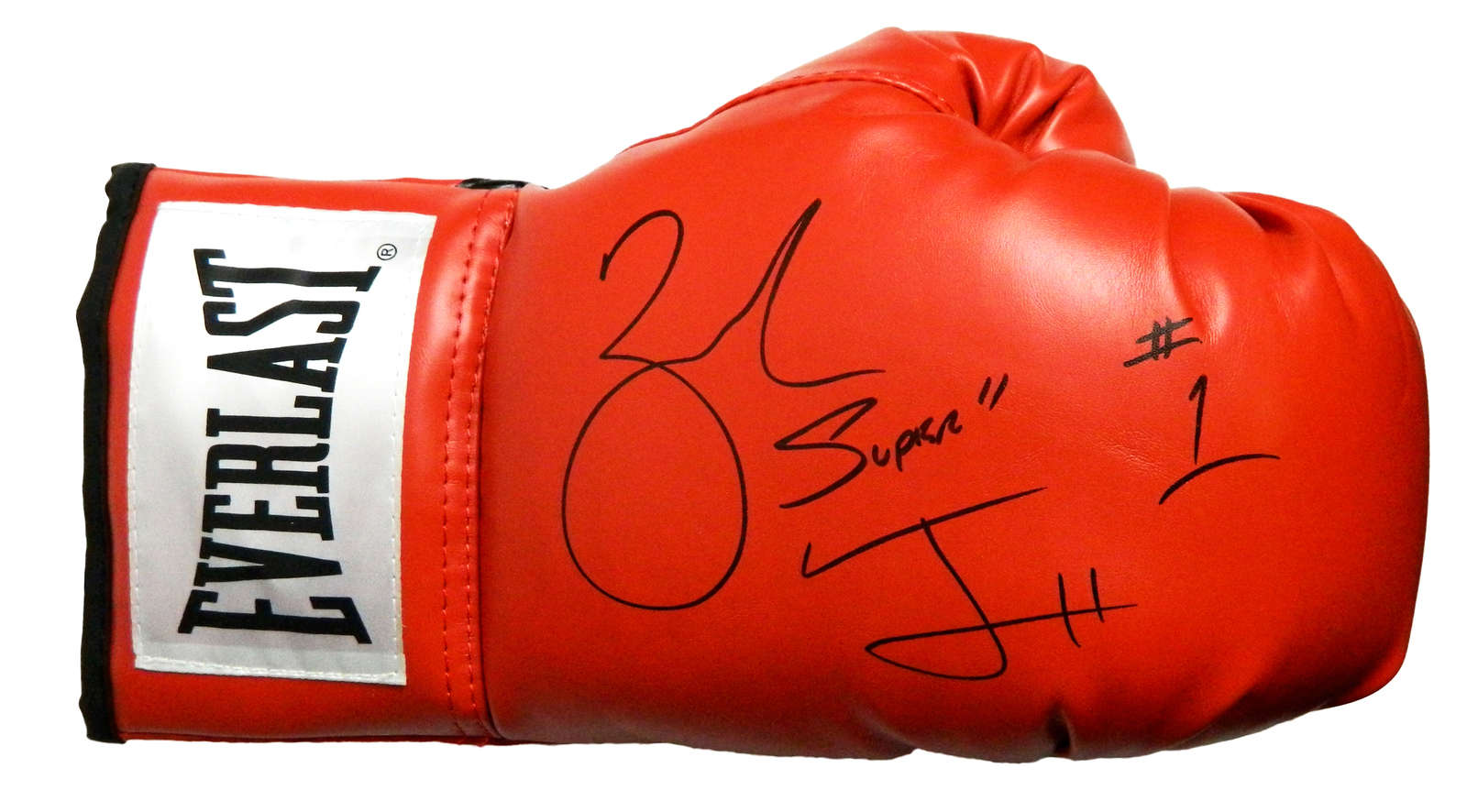 "Zab Judah Signed Everlast Red Boxing Glove w/ ""Super"" - $70.00"