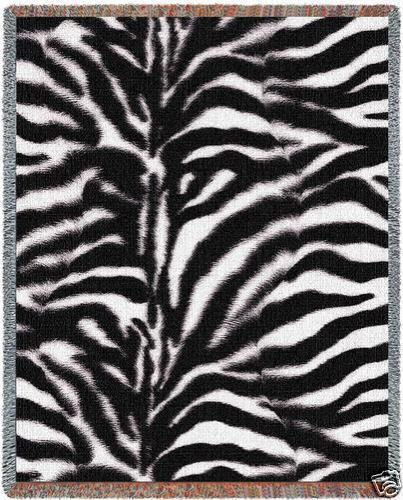 Primary image for 70x53 ZEBRA Jungle Skin Print Tapestry Throw Blanket