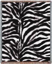 70x53 ZEBRA Jungle Skin Print Tapestry Throw Blanket  - $60.00